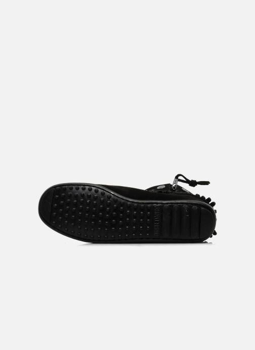 Bottines et boots Minnetonka DOUBLE FRINGE BT Noir vue haut