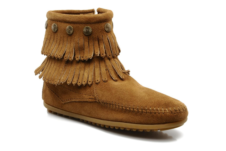 Bottines et boots Minnetonka DOUBLE FRINGE BT Marron vue détail/paire