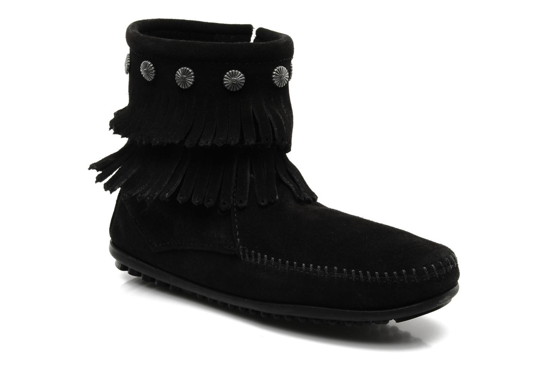 Bottines et boots Minnetonka DOUBLE FRINGE BT Noir vue détail/paire