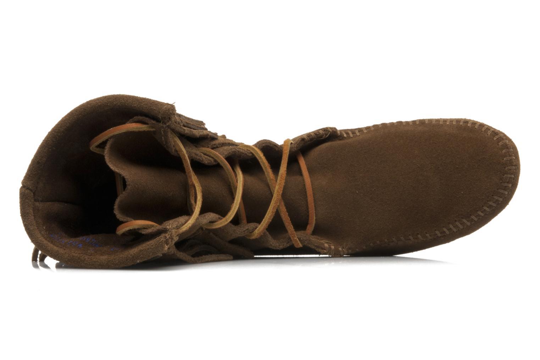 Bottines et boots Minnetonka DOUBLE FRINGE TRAMPER Marron vue gauche