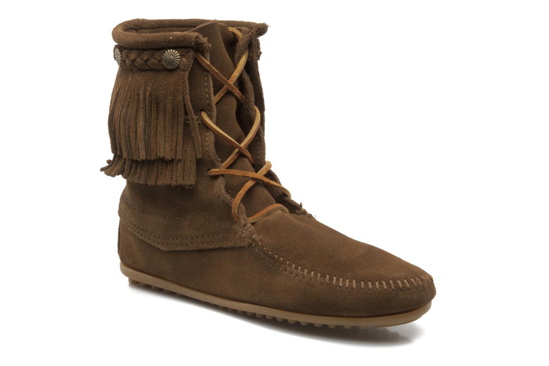 Bottines et boots Minnetonka DOUBLE FRINGE TRAMPER Marron vue détail/paire