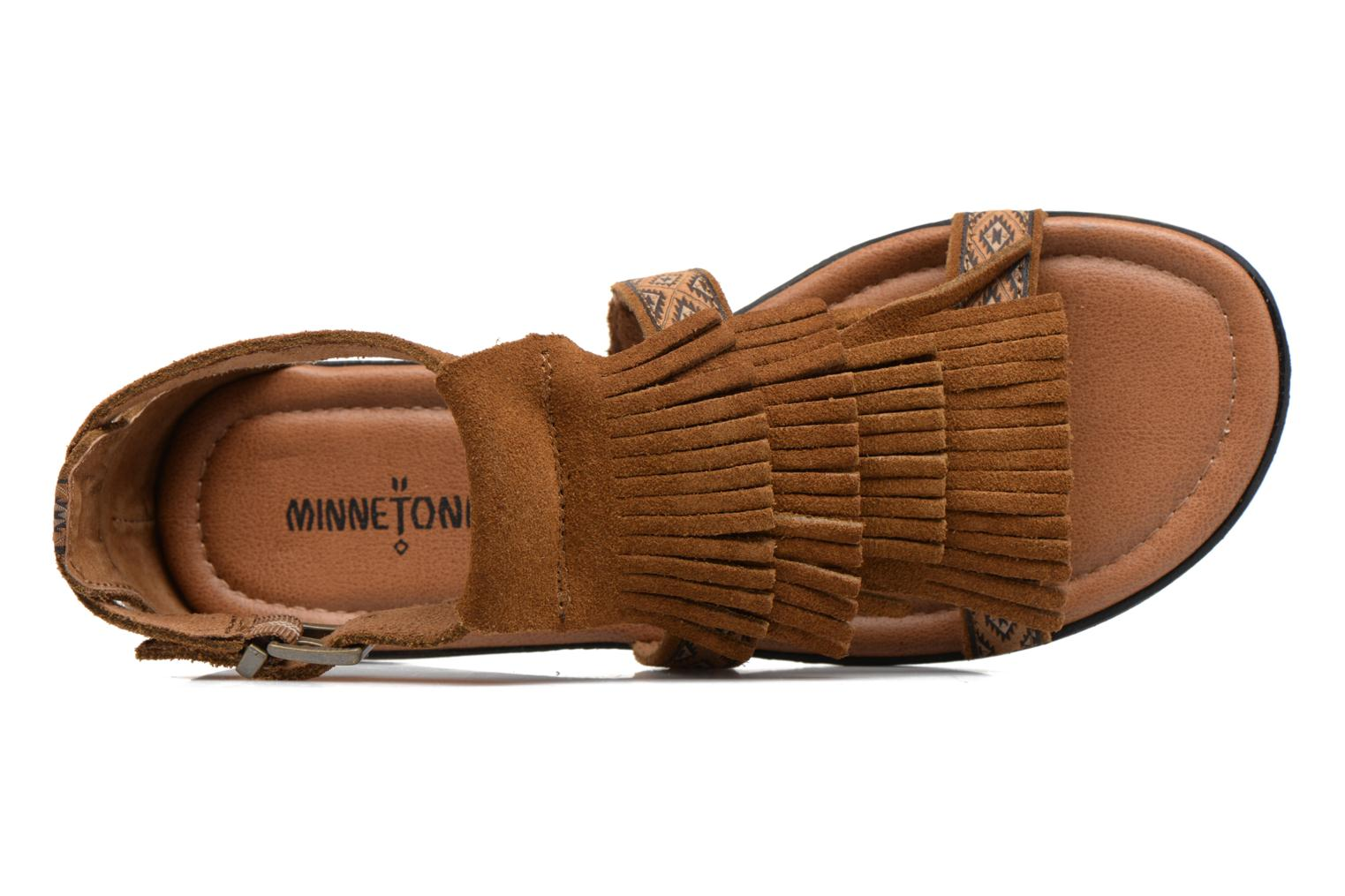 Sandals Minnetonka Maui Brown view from the left