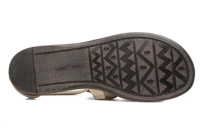 Sandalen Minnetonka Maui beige ansicht von oben