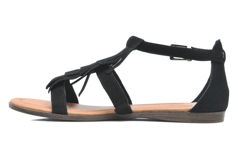 Sandales et nu-pieds Minnetonka Maui Noir vue face