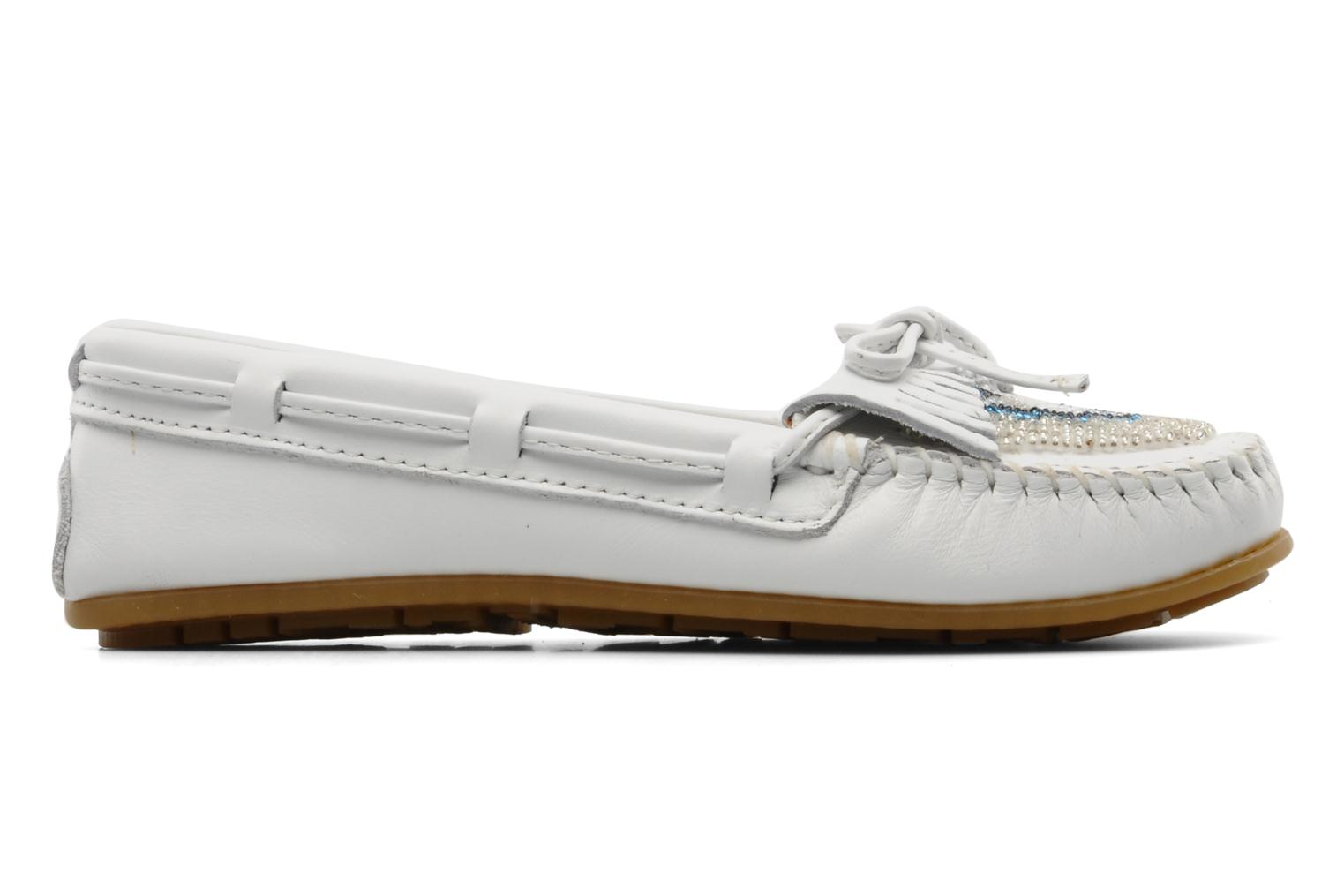 Loafers Minnetonka KILTY BEADED White back view