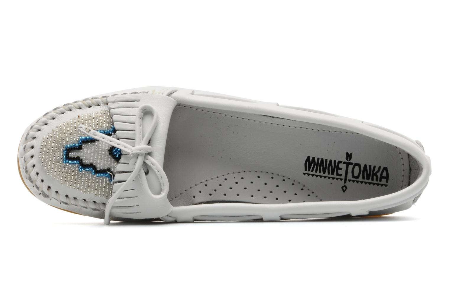 Loafers Minnetonka KILTY BEADED White view from the left
