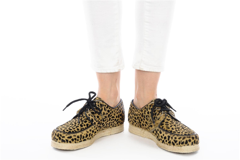 Chaussures à lacets Underground Wulfrun Rope Beige vue bas / vue portée sac