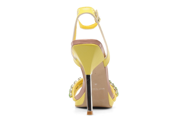 Sandales et nu-pieds Carvela Ginny Jaune vue droite