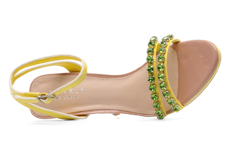 Sandales et nu-pieds Carvela Ginny Jaune vue gauche