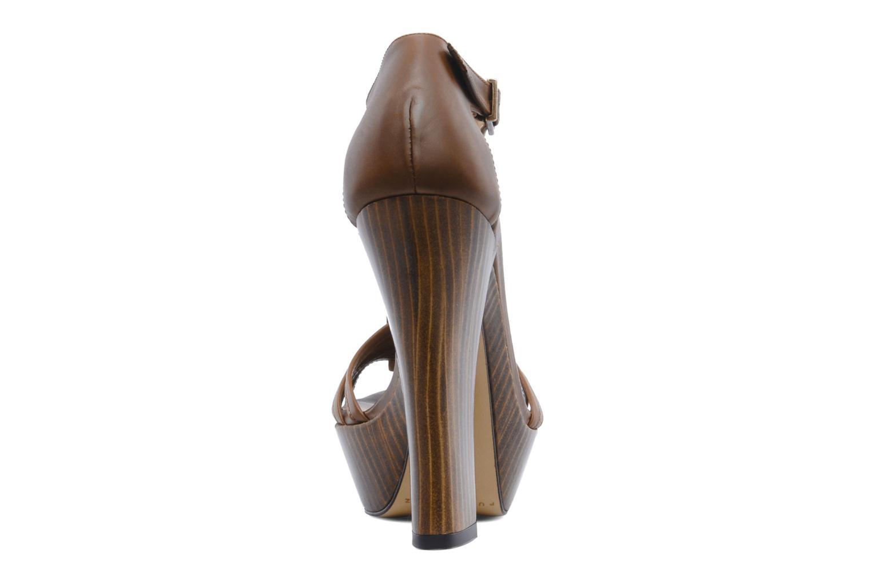 Sandales et nu-pieds Pura Lopez Krista Marron vue droite