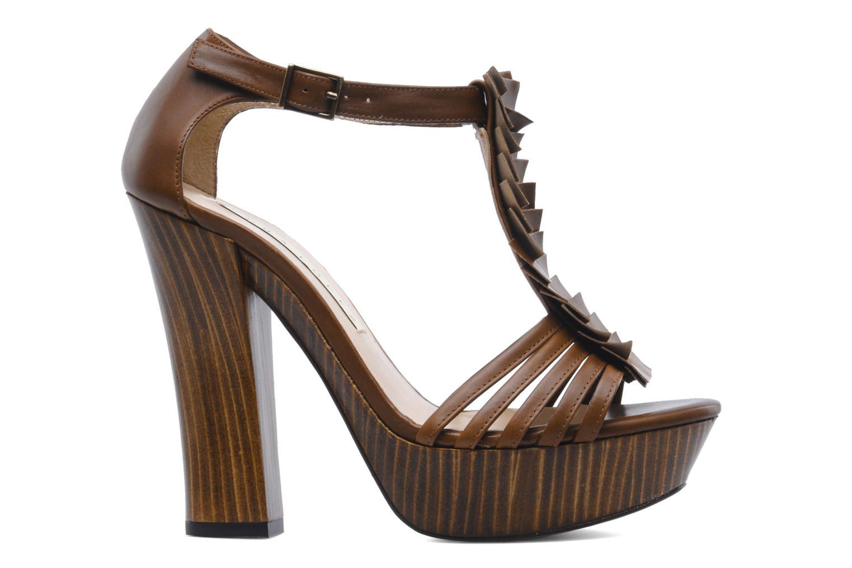 Sandales et nu-pieds Pura Lopez Krista Marron vue derrière
