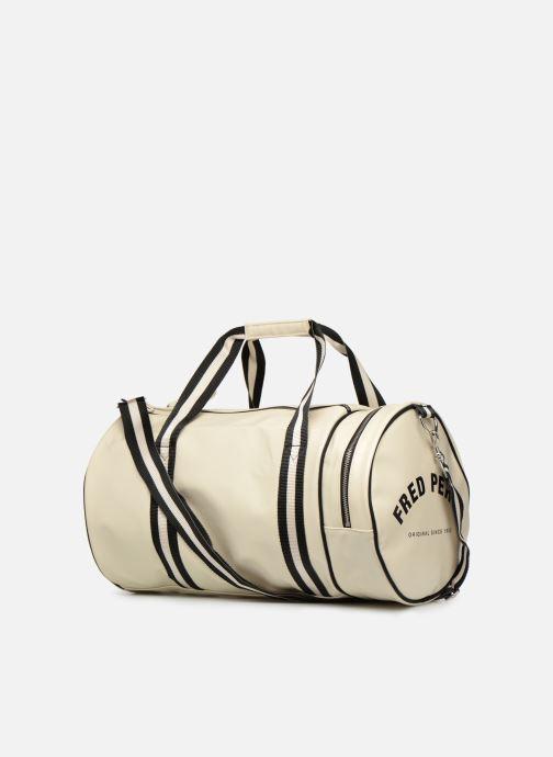 Sacs de sport Fred Perry Classic Barrel Bag Blanc vue droite