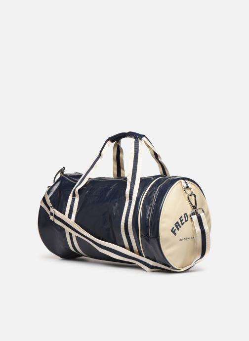 Sacs de sport Fred Perry Classic Barrel Bag Bleu vue droite