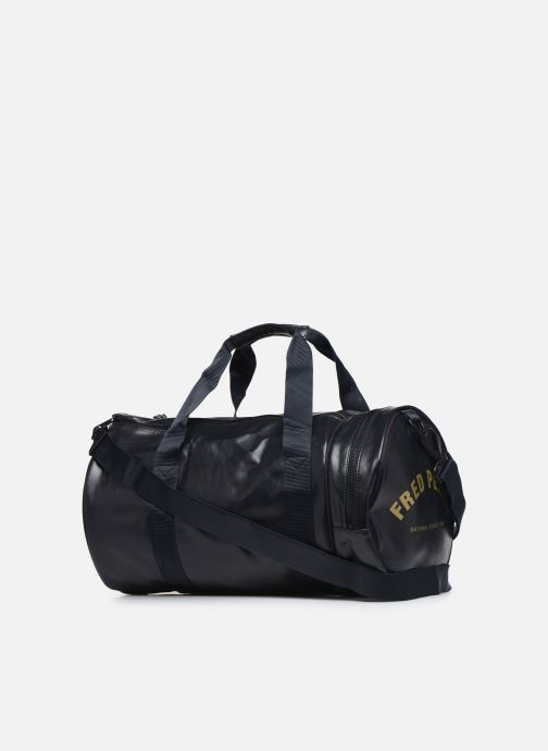 Sacs de sport Fred Perry Classic Barrel Bag Noir vue droite