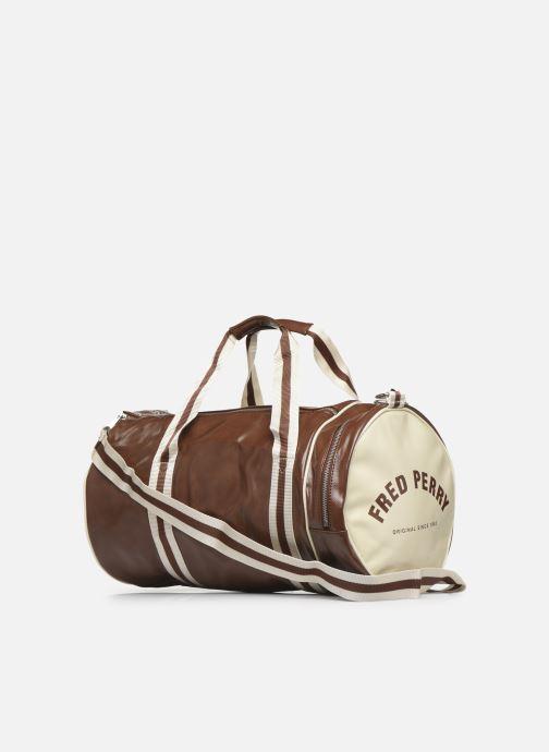 Bagages Fred Perry Classic Barrel Bag Marron vue droite