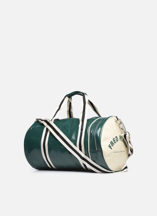 Bagages Fred Perry Classic Barrel Bag Vert vue droite