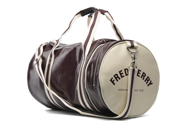 Sacs de sport Fred Perry Classic Barrel Bag Bordeaux vue droite