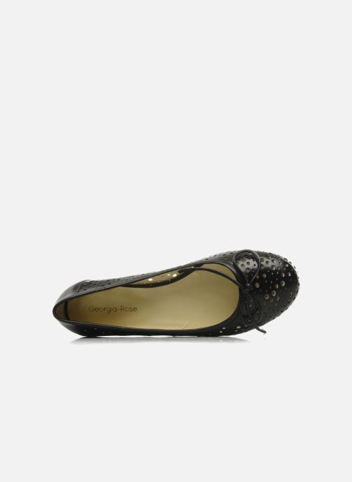Ballet pumps Georgia Rose Tourine Black view from the left