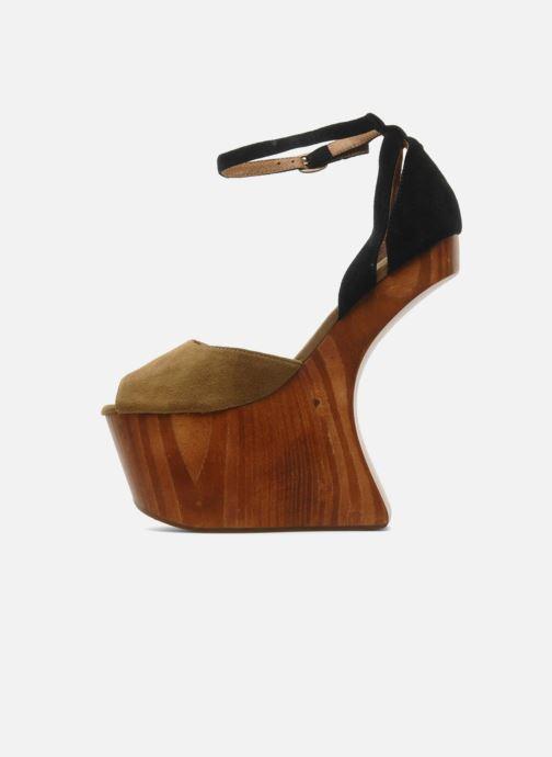 Sandales et nu-pieds Jeffrey Campbell STRUP Vert vue face