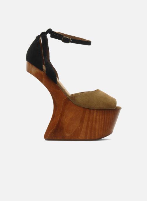 Sandales et nu-pieds Jeffrey Campbell STRUP Vert vue derrière