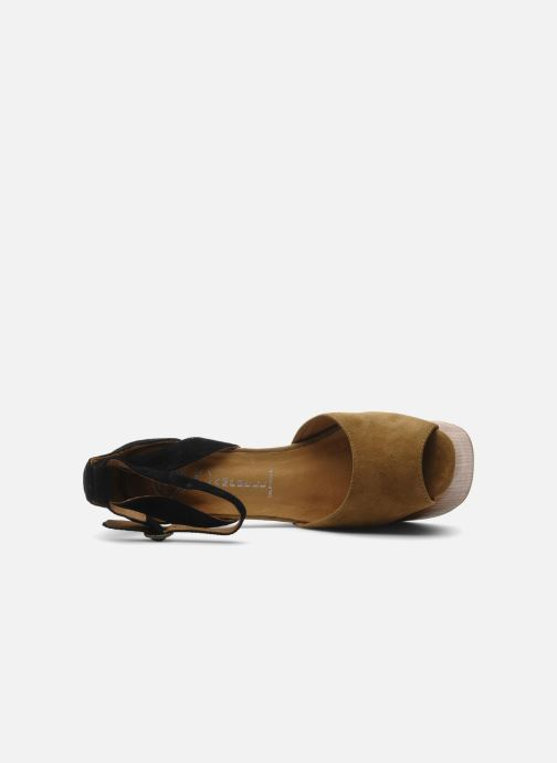Sandals Jeffrey Campbell STRUP Green view from the left