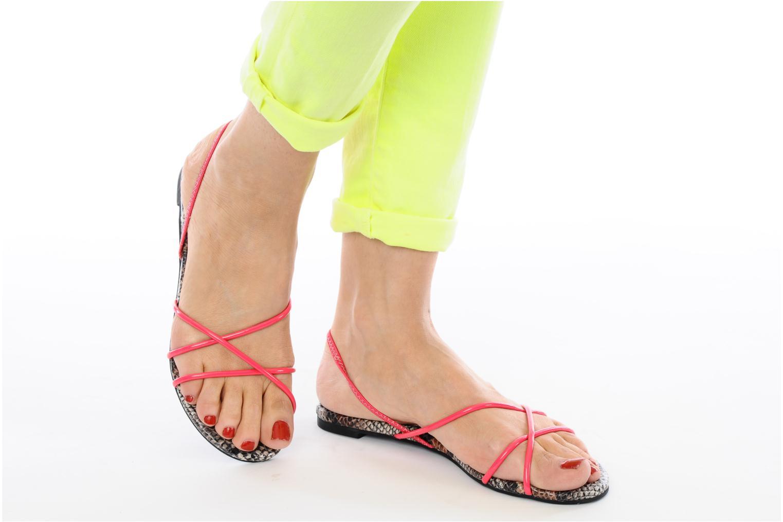 Sandales et nu-pieds Jeffrey Campbell SPIRAL Orange vue bas / vue portée sac