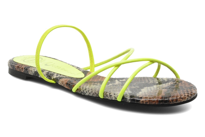 Sandaler Jeffrey Campbell SPIRAL Gul detaljeret billede af skoene