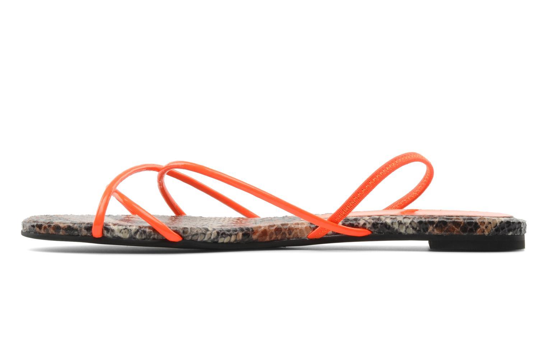 Sandales et nu-pieds Jeffrey Campbell SPIRAL Orange vue face