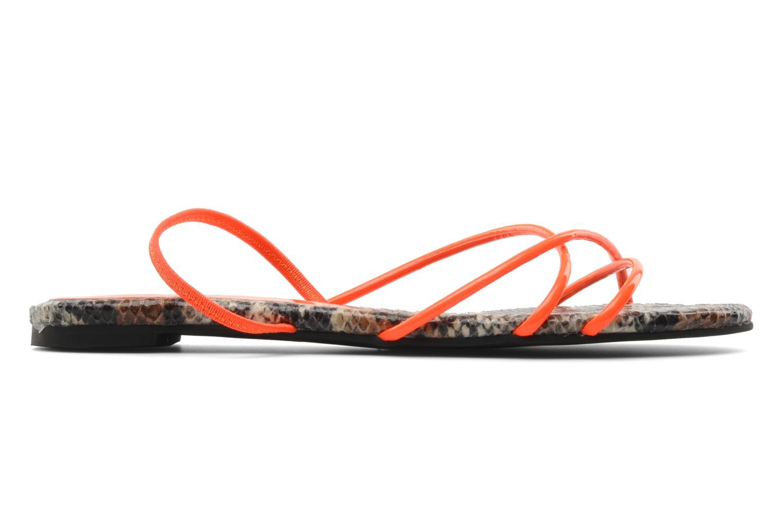 Sandales et nu-pieds Jeffrey Campbell SPIRAL Orange vue derrière