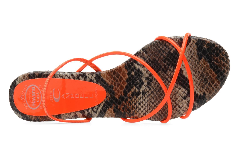 Sandales et nu-pieds Jeffrey Campbell SPIRAL Orange vue gauche