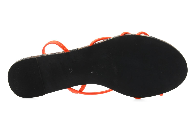 Sandales et nu-pieds Jeffrey Campbell SPIRAL Orange vue haut