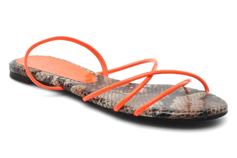 Sandales et nu-pieds Jeffrey Campbell SPIRAL Orange vue détail/paire
