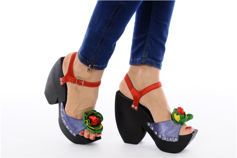 Sandales et nu-pieds Jeffrey Campbell CHITA Multicolore vue bas / vue portée sac