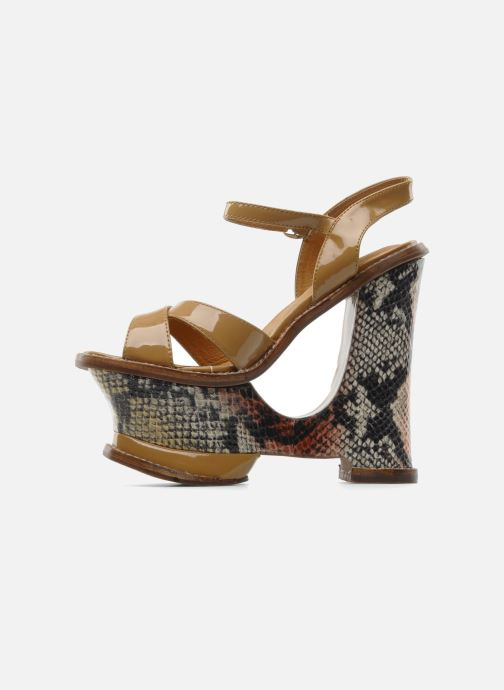 Sandals Jeffrey Campbell HARE 2 Beige front view