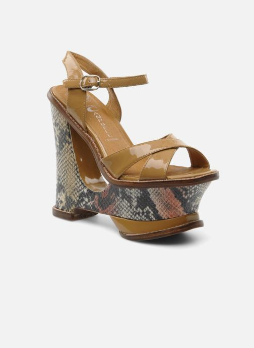 Sandals Jeffrey Campbell HARE 2 Beige detailed view/ Pair view