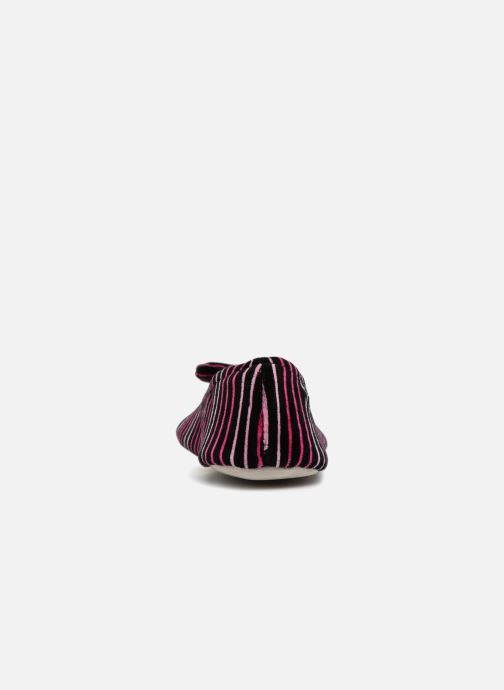 Chaussons Isotoner Ballerine velours grand nœud Multicolore vue droite