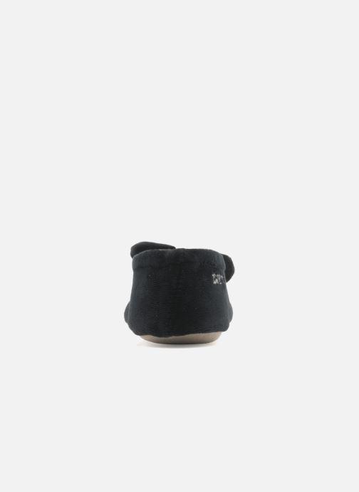 Pantoffels Isotoner Ballerine velours grand nœud Zwart rechts