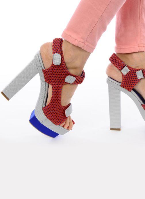 Sandales et nu-pieds Jeffrey Campbell FONDA Rouge vue bas / vue portée sac