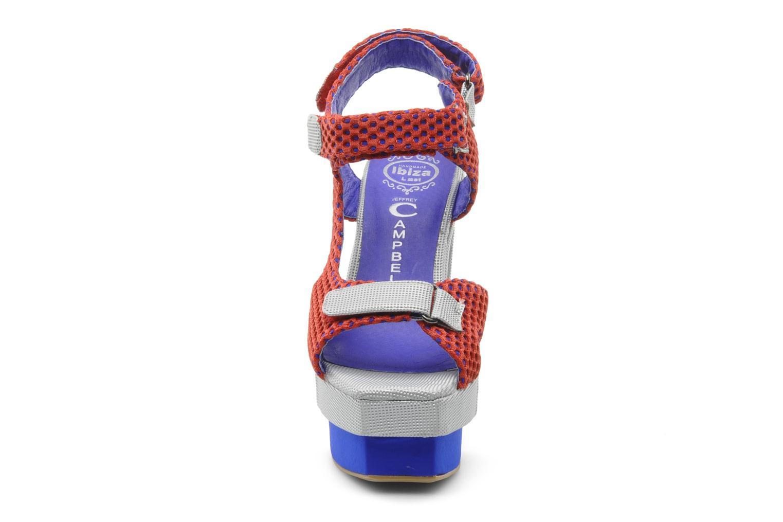 Sandales et nu-pieds Jeffrey Campbell FONDA Rouge vue portées chaussures