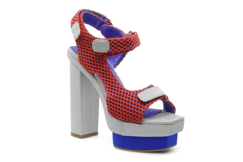 Sandales et nu-pieds Jeffrey Campbell FONDA Rouge vue détail/paire