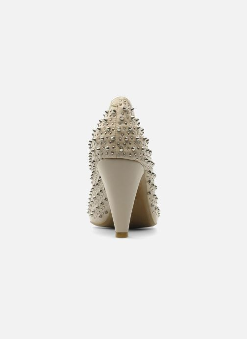 High heels Jeffrey Campbell LANE SPIKE Beige view from the right