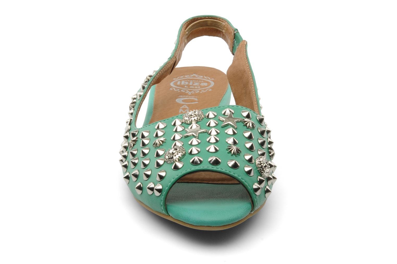 Sandales et nu-pieds Jeffrey Campbell SIDE NOTE Vert vue portées chaussures
