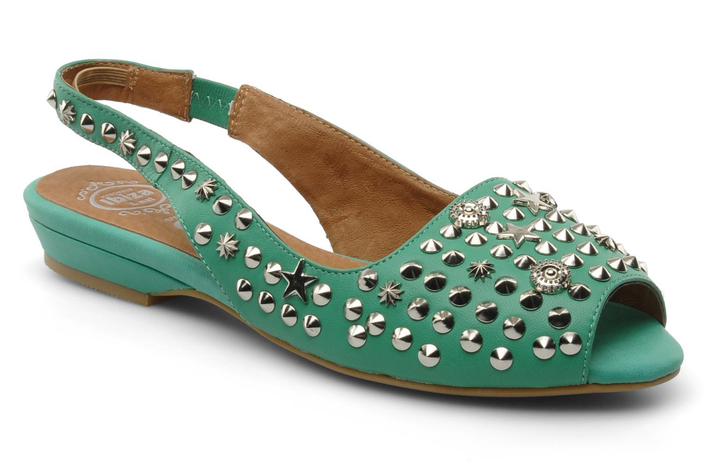 Sandales et nu-pieds Jeffrey Campbell SIDE NOTE Vert vue détail/paire