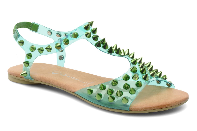 Sandales et nu-pieds Jeffrey Campbell PUFFER Vert vue détail/paire