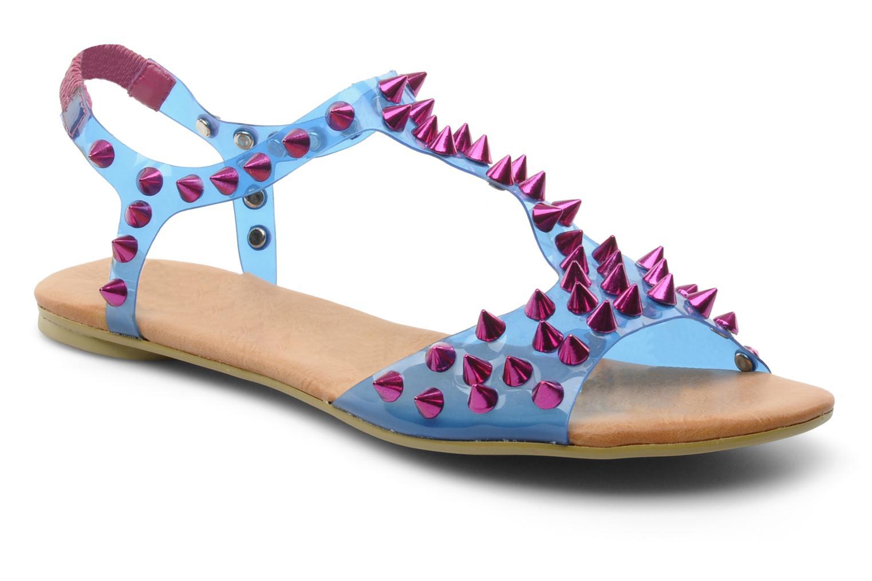 Sandales et nu-pieds Jeffrey Campbell PUFFER Bleu vue détail/paire