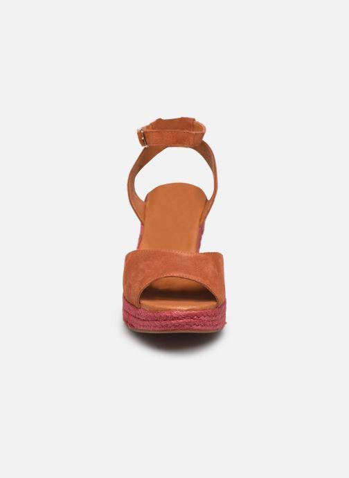 Sandalen Flipflop PINEAPPLE orange schuhe getragen