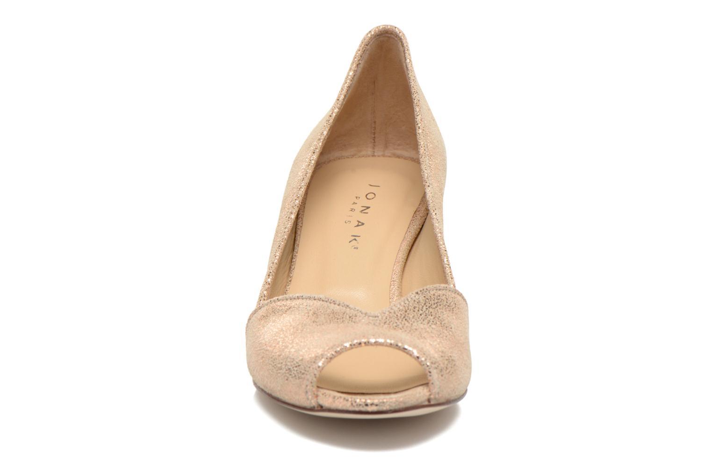 Escarpins Jonak Amiu Or et bronze vue portées chaussures
