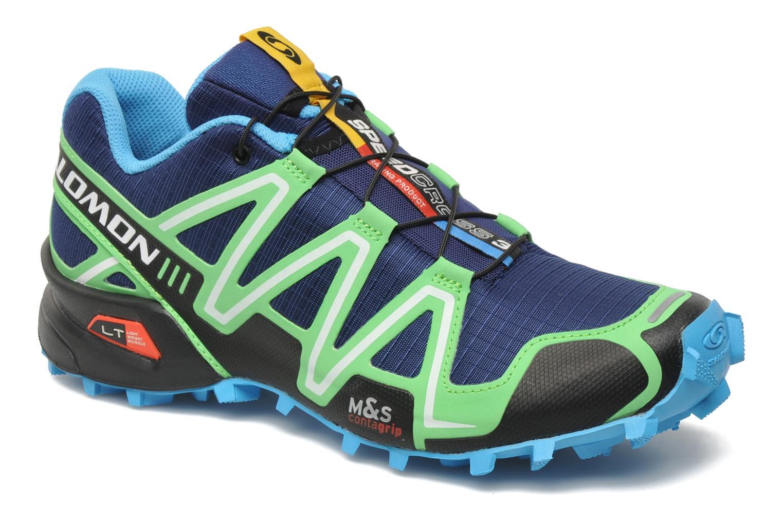sports shoes 0dd49 4235f amazon chaussures de sport salomon speedcross 3 bleu vue détail paire e35d7  dda8b