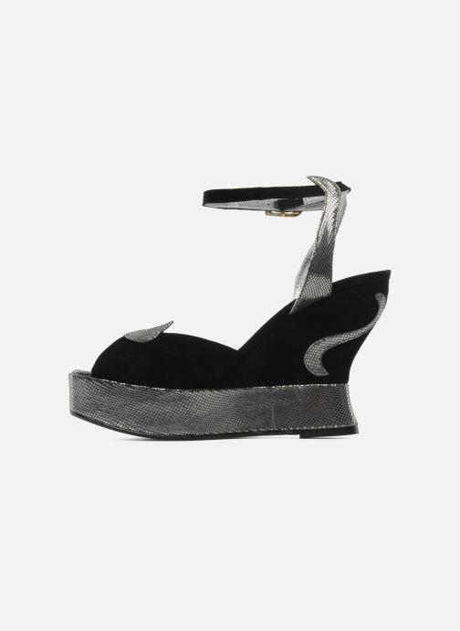 Sandales et nu-pieds Terry de Havilland MARGAUX LOW Noir vue face
