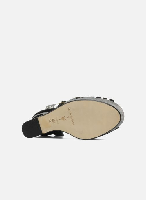 Sandales et nu-pieds Terry de Havilland MARGAUX LOW Noir vue haut
